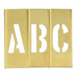 "Box Partners Brass Stencils 3"" Letters/Numbers"