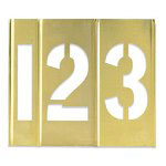 "Box Partners Brass Stencils 3"" Numbers"