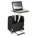 "Stebco / Bond Street Traveldesk Mobile Work Station, Polyester, 10 3/4"" x 18 1/2"" x 17 1/4"", Black"