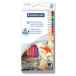 Staedtler Watercolour Pencil Set, 12-Piece, Multi