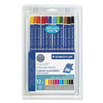 Staedtler Watercolor Pencils, w/ Easel Case, Soft Coating, 12/ST, Assorted