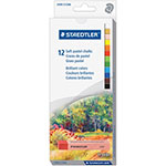 Staedtler Soft Chalk Pastels, Water-Soluble, 12/ST, Ast