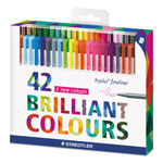 Staedtler triplus Fineliner Marker, Super Fine, Water-Based, 42 Color Set