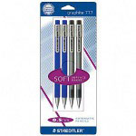 Staedtler Automatic Pencil, .5mm, Refillable, 4/PK, Assorted