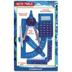 Staedtler 4-Piece Math Tools Set, Calculator, Ruler, Protractor, Compass