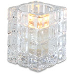 Sterno Krystle Flameless Candle Holder, Clear