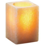 Sterno Alabaster Flameless Candle Holder, Large Square