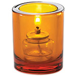 Sterno Sula Flameless Candle Holder, Amber