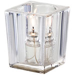 Sterno Signature Flameless Candle Holder, Clear