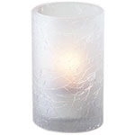 Sterno Grace Flameless Candle Holder, Frost Crackle