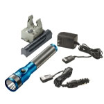 Streamlight Stinger LED Rechargeable Flashlight with AC/DC and PiggyBack - Blue