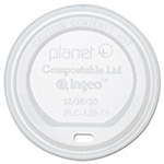 Stalk Market Planet+ Hot Cup Lid, Translucent, For 12 oz Cups, 500/Carton