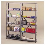 "Tennsco Industrial Steel Shelving for 87"" High Posts, 48wx18d, Medium Gray, 6/Carton"