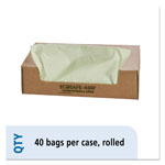 "Stout Green Green Trash Bags, 48 Gallon, 0.85 Mil, 42"" X 48"", Box of 40"