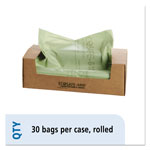 "Stout Green Green Trash Bags, 64 Gallon, 0.85 Mil, 48"" X 60"", Box of 30"