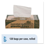 "Stout White Trash Bags, 13 Gallon, 0.7 Mil, 24"" X 30"", Box of 120"