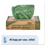"Stout Green Green Trash Bags, 33 Gallon, 1.1 Mil, 33"" x 40"", Box of 40"