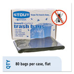 "Stout Insect Repellent Black Trash Bags, 35 Gallon, 2 Mil, 33"" X 40"", Box of 80"