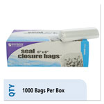 Stout Envision Zipper Seal Closure Bags, Clear, 6 x 6, 1000/Carton