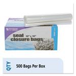 Stout Envision Zipper Seal Closure Bags, Clear, 10 x 10, 500/Carton