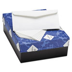 Strathmore Paper 25% Cotton Business Envelopes, Bright White, Laid Finish, 24 lbs, 4 1/8 x 9 1/2