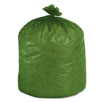 "Stout Green Green Trash Bags, 33 Gallon, 1.1 Mil, 33"" X 40"", Case of 40"