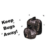 "Stout Insect Repellent Black Trash Bags, 55 Gallon, 2 Mil, 40"" X 45"", Case of 65"