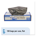 "Stout Recycled Brown Trash Bags, 30 Gallon, 1.3 Mil, 30"" X 39"", Case of 100"