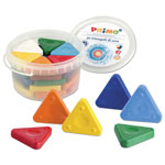 Stride Primo Triangle Crayons, Assorted Colors, 30/Pack
