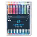 Stride Ballpoint Pen, Rubber Grip, Steel Point, 8/PK, Assorted