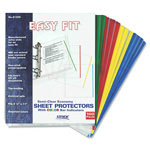 Stride EasyFit Sheet Protectors, 8 1/2 x 11, Assorted Colors, 100/Box