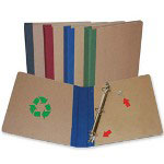"Stride 80% Recycled Forever Green D-Ring Binder, 1 1/2"" Capacity, Blue"