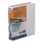 "Stride 80% Recycled D-Ring Binder, 1 1/2"" Capacity, White"