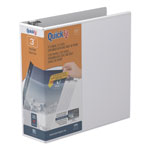 "Stride 80% Recycled D-Ring Binder, 3"" Capacity, White"
