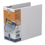 "Stride 80% Recycled D-Ring Binder, 5"" Capacity, White"