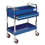 Sunex Service Cart With Locking Top and Drawer - Blue