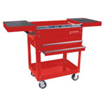 Sunex Compact Slide Top Utility Cart, Red