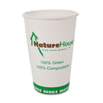 Savannah Supplies 8 Oz Hot Paper Cups, White, Pack of 50