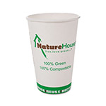 Savannah Supplies 10 Oz Hot Paper Cups, White, Pack of 50
