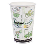 NatureHouse® Paper/PLA Hot Cups, 12 oz, White, 50/Pack