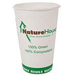 NatureHouse® Compostable Paper/PLA Cup, 16oz, White, 1000/Carton