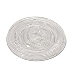 Savannah Supplies Compostable Cold Cup Lids, Flat, For 10,12,16 oz Cups, Clear, 100/Pack
