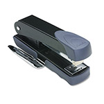 Swingline Premium Compact Stapler with Built in Staple Remover, Label Holder, Black/Gray