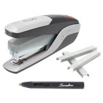 Swingline QuickTouch Reduced Effort Full Strip Stapler, 25-Sheet Capacity, Black/Silver