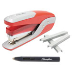 Swingline Quick Touch Stapler Value Pack, 28 Sheet Capacity, Red/Silver