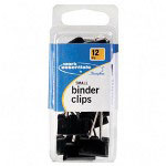 Swingline® Small Binder Clip, Scratch Resistant, 12/CD, Black