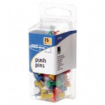Swingline Jumbo Push Pins, 25/CD, AST