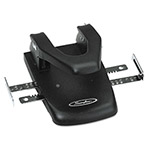 "Swingline 22 Sheet Capacity Automatic Centering Steel 2 Hole Punch, 1/4"" Dia., Black"