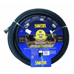 "Swan Heavy Duty Premium Rubber Garden Hose, 5/8"" x 100', with Standard Water Threads, Reinforced"