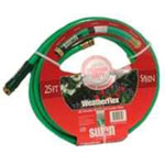 "Swan Weather Flex Garden Hose, 5/8"" x 25', with Standard Water Threads, Reinforced, Kink Resistant"